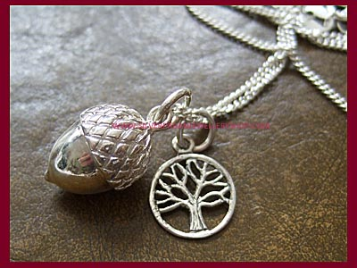 Acorn and Tree of Life Necklace