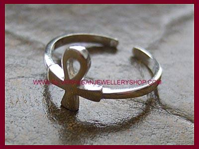 Ankh Midi Ring or Toe Ring - Click Image to Close