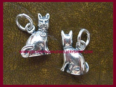 Cat Charm with Pentagram
