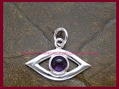 Evil Eye Protection Charm - Amethyst