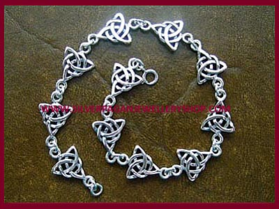 Celtic Triple Goddess Triquetra Bracelet