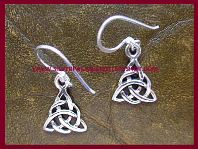 Celtic Triple Goddess Triquetra Earrings