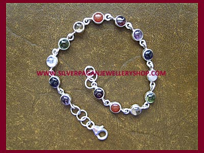 Chakra Charm Bracelet - 3 Lengths Available
