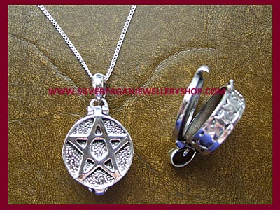 Pentagram Locket Necklace