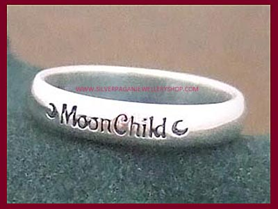 MoonChild Ring with Crescent Moons