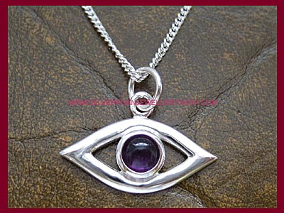 Evil Eye Protection Pendant - Amethyst