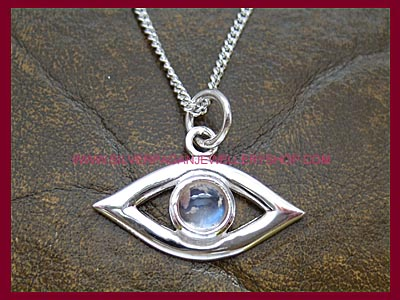 Evil Eye Protection Pendant - Rainbow Moonstone