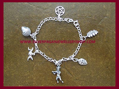 Enchanted Forest Charm Bracelet - 6 Charms, 3 Bracelet Lengths
