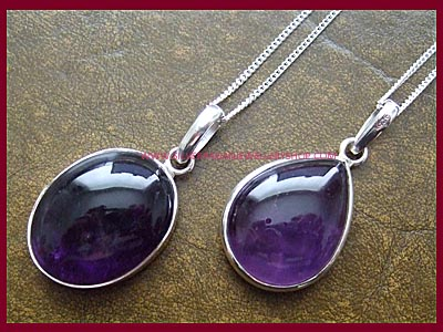 Amethyst Necklace - Oval or Teardrop