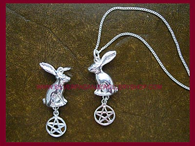 Hare and Pentagram Pendant
