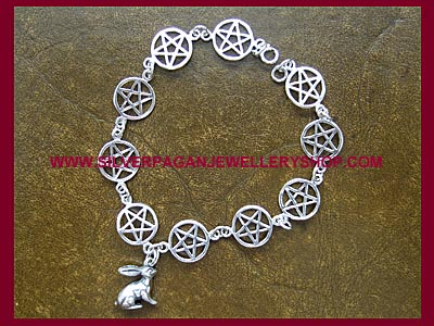 Hare and Pentagram Bracelet