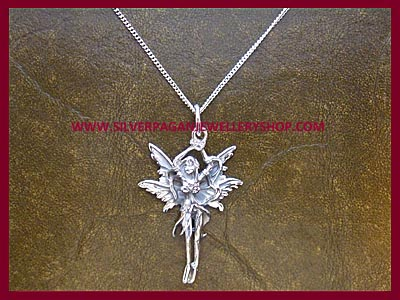 Leaf Fairy Pendant Necklace