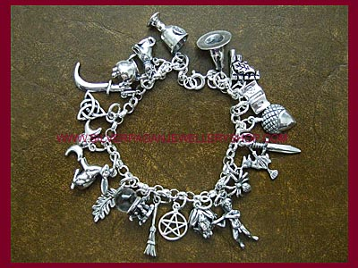 Pagan Charm Bracelet - 20 Charms, 3 Bracelet Lengths