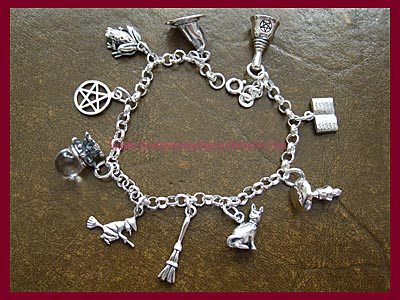Pagan Charm Bracelet - 10 Charms, 3 Bracelet Lengths