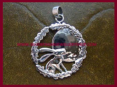 Moon Gazing Hare Pendant **MORE STOCK SOON**