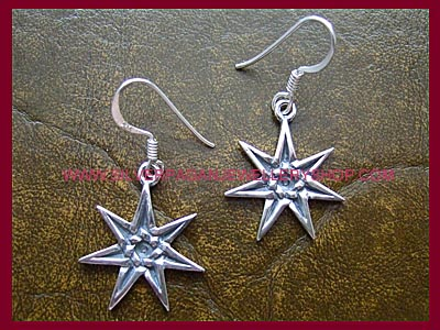 Faerie Elven Star Pentacle Earrings