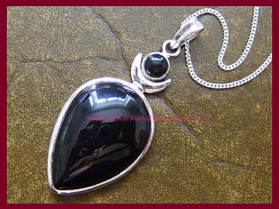 Black Onyx High Priestess Pendant