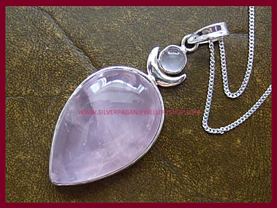 Rose Quartz High Priestess Pendant *QUICK - ONLY 1 LEFT*
