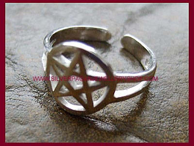 Pentagram Midi Ring or Toe Ring