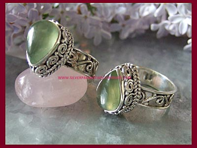 Aurora Ring - Prehnite **MORE SOON**