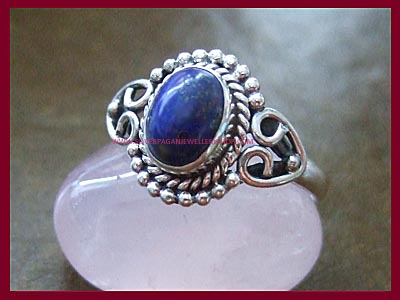 Lapis Dark Moon Ring