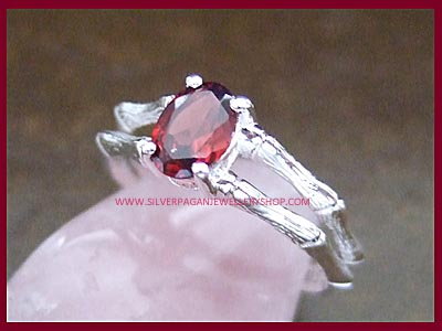 Garnet Blood and Bones Ring