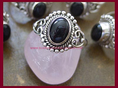 Black Onyx Dark Moon Ring