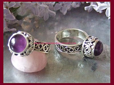 Moon Dreamer Ring - Amethyst - Click Image to Close