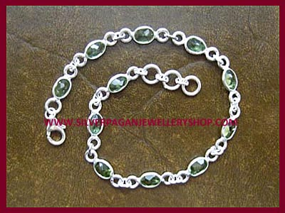 Facetted Peridot Bracelet