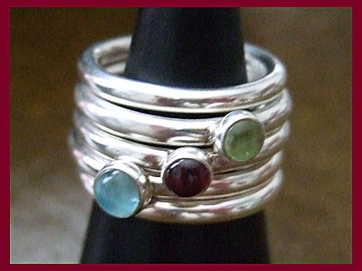 Stack Ring - Blue Topaz