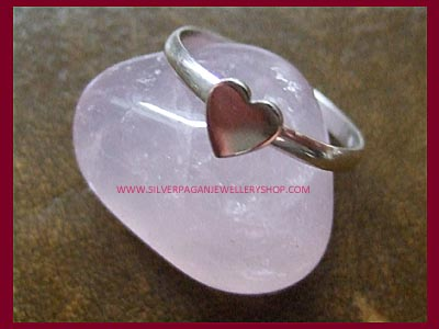 Heart Ring - Stackable - Click Image to Close