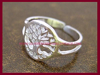 Tree of Life Midi Ring or Toe Ring - Click Image to Close