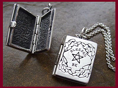 Wiccan Book of Shadows Blessed Be Locket