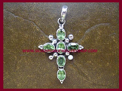 Facetted Peridot Cross ** MORE STOCK SOON**