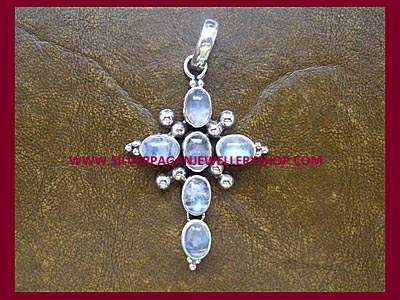 Rainbow Moonstone Cross ** MORE STOCK SOON **