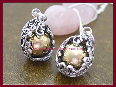 Filigree Angel Caller Pendant Necklace