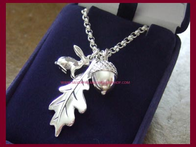 Hare, Oak Leaf and Acorn Necklace **LOW STOCK**