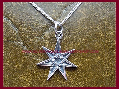 Faerie Elven Star Pendant Necklace
