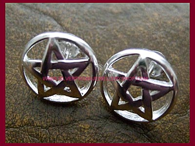 Pentagram Earrings - Studs
