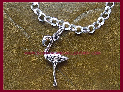 Ready Made Flamingo Charm Bracelet