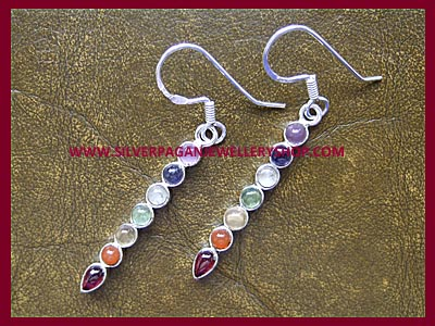 Gemstone Chakra Earrings (medium)