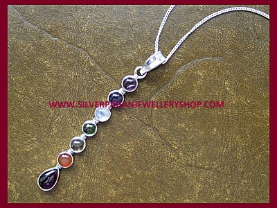 Gemstone Chakra Pendant Necklace