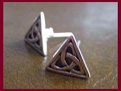 Celtic Triquetra Earrings - Studs