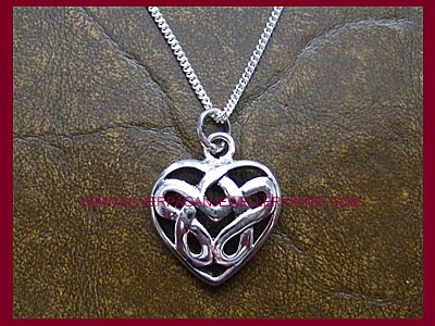 Celtic Heart Pendant Necklace **MORE STOCK SOON**