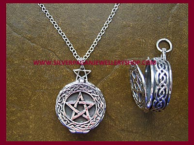 Celtic Pentagram Locket Necklace **MORE STOCK SOON**