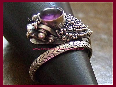 Dragon Wrap Ring - Amethyst ** MORE STOCK SOON **