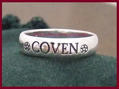 Coven Ring with Pentacles