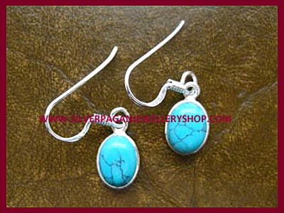 Oval Turquoise Earrings