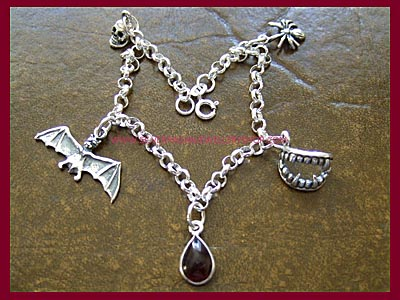 Gothic Charm Bracelet - 3 Lengths Available