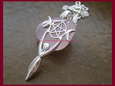 Pentagram Goddess Necklace